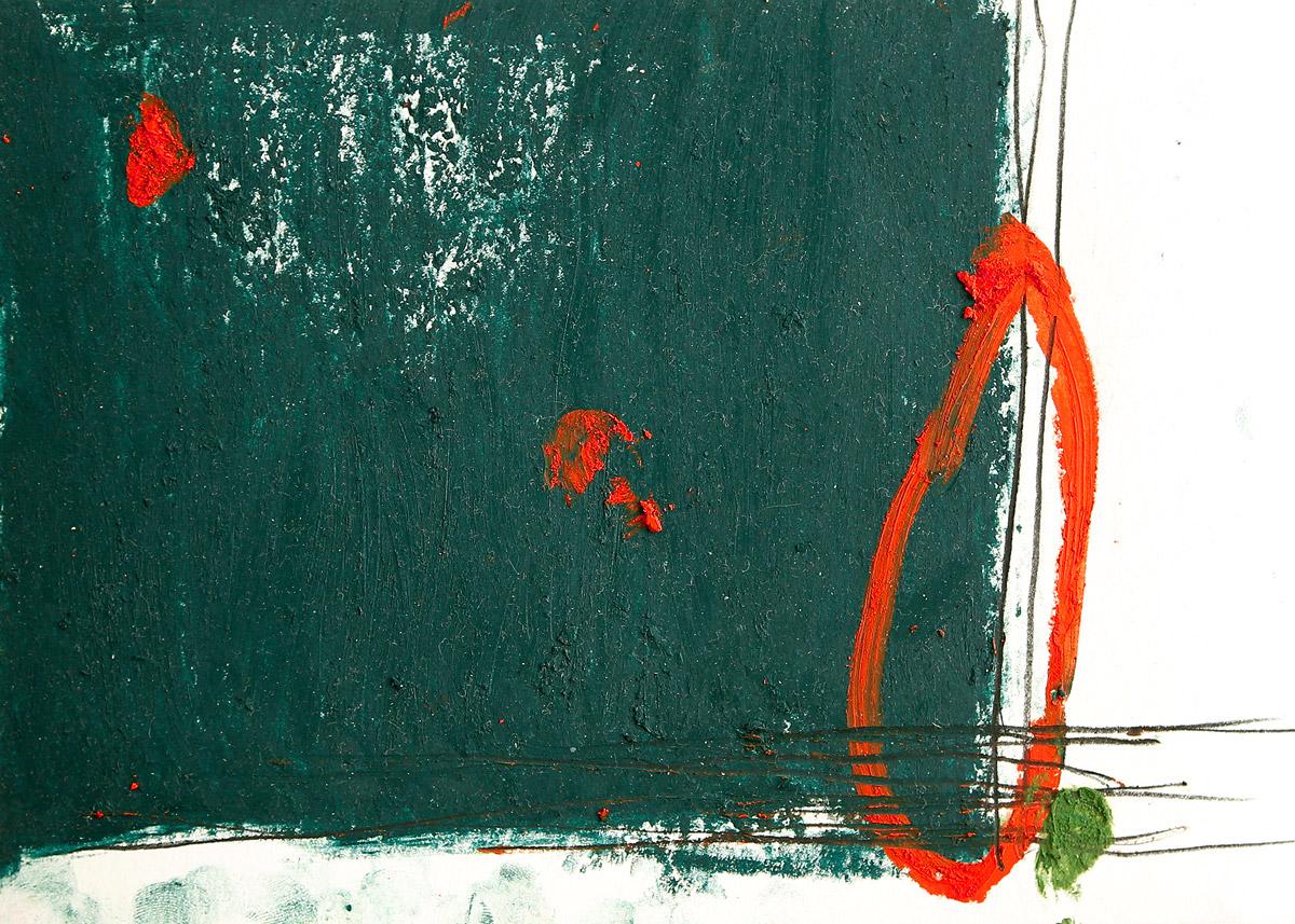 Sonata I, 2015, Ölstick auf Papier, 21 x 14,8 cm