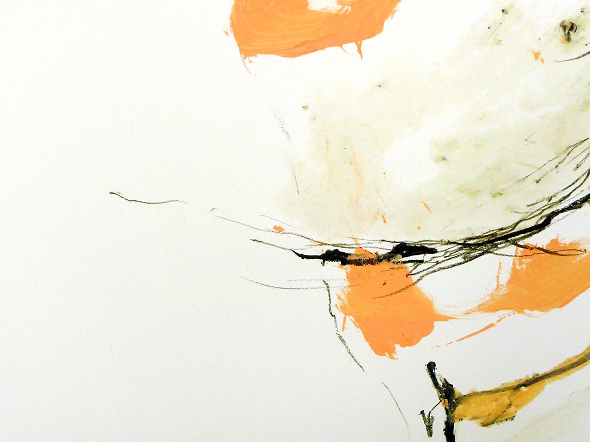 o.T. VIII, 2010, Ölstick/Acryl auf Papier