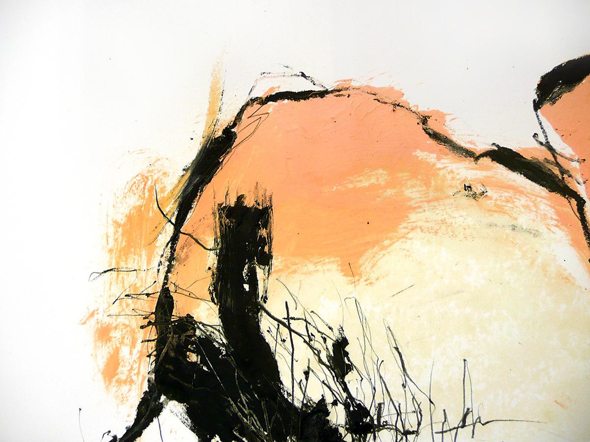 o.T. VII, 2010, Ölstick/Acryl auf Papier