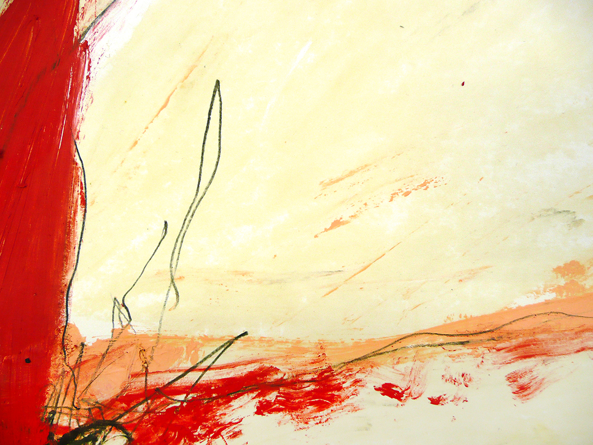 o.T. VI, 2010, Ölstick/Acryl auf Papier