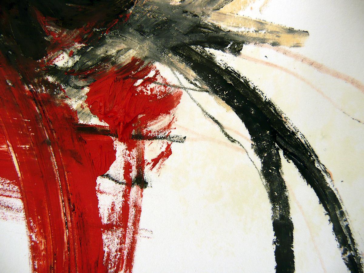 o.T. I, 2010, Ölstick/Acryl auf Papier