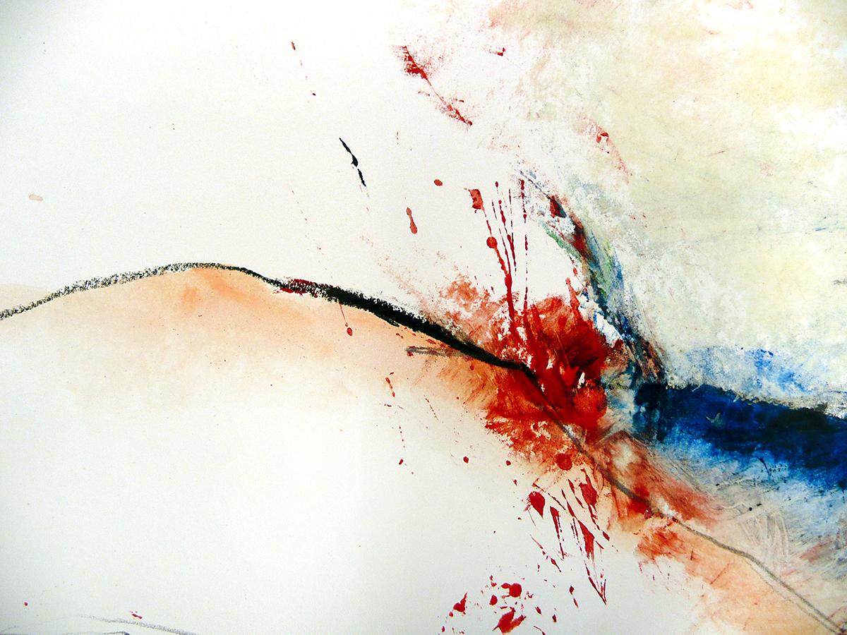 o.T. V, 2010, Ölstick/Acryl auf Papier