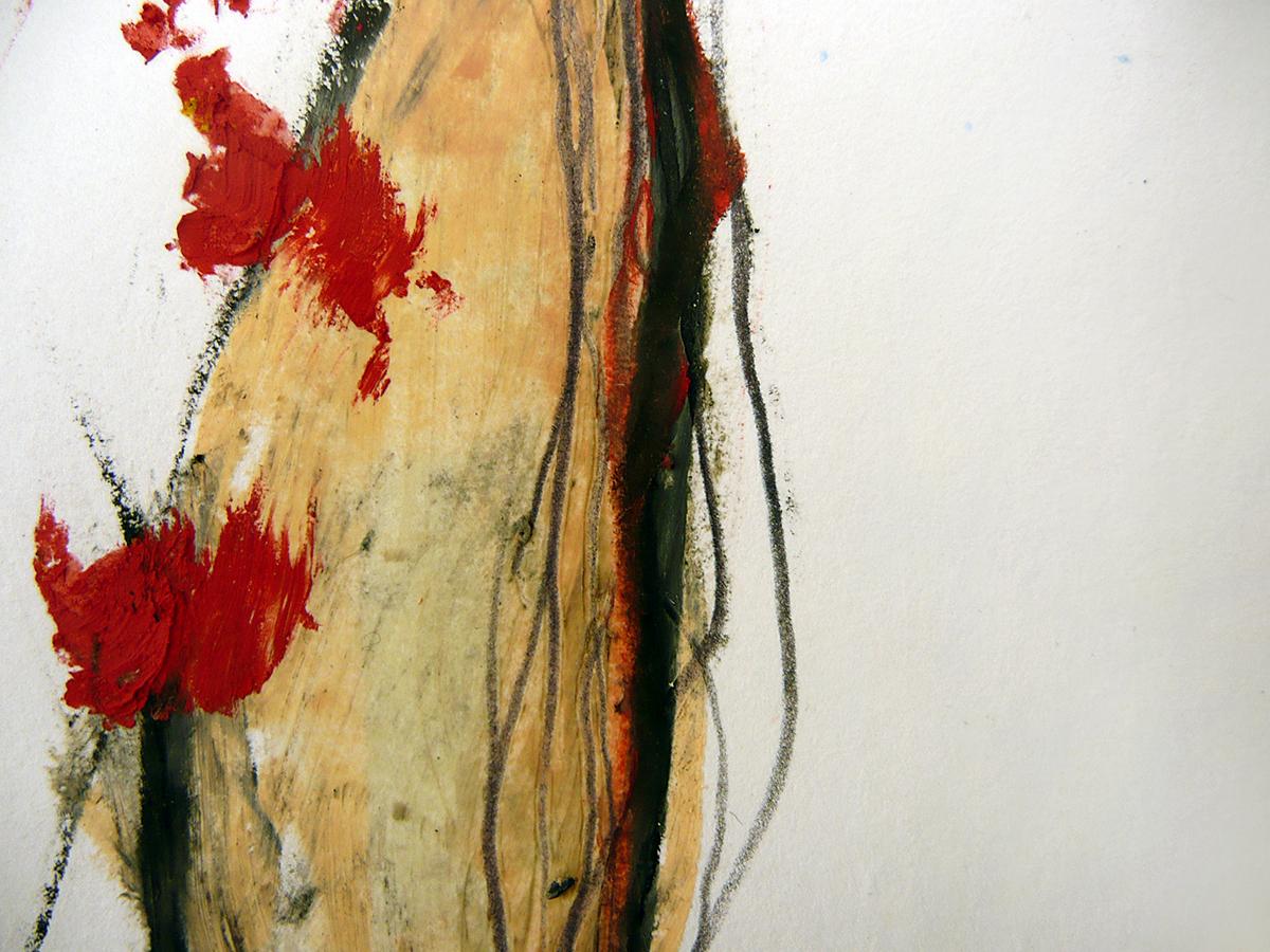 o.T. IV, 2010, Ölstick/Acryl auf Papier