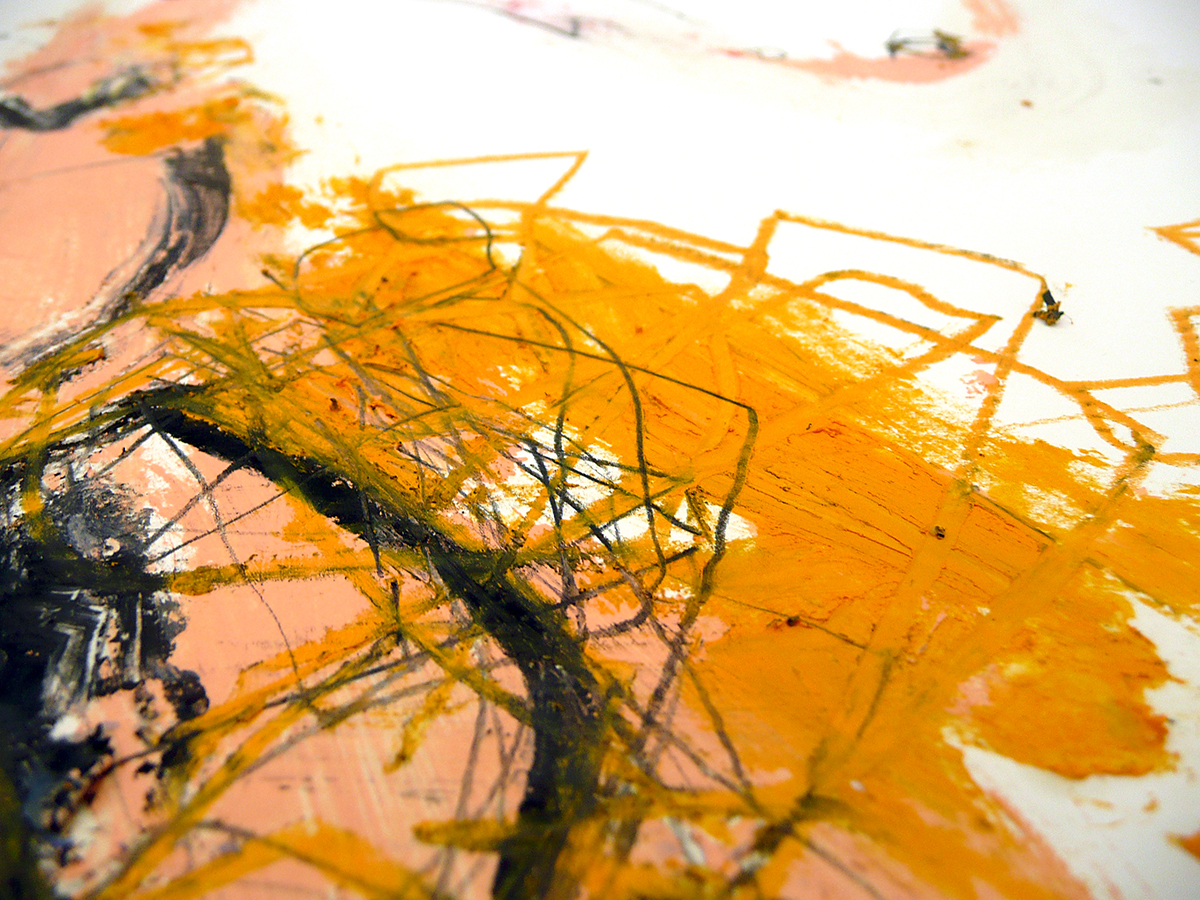 o.T. III, 2010, Ölstick/Acryl auf Papier