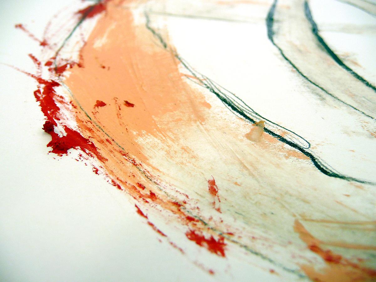 o.T. II, 2010, Ölstick/Acryl auf Papier
