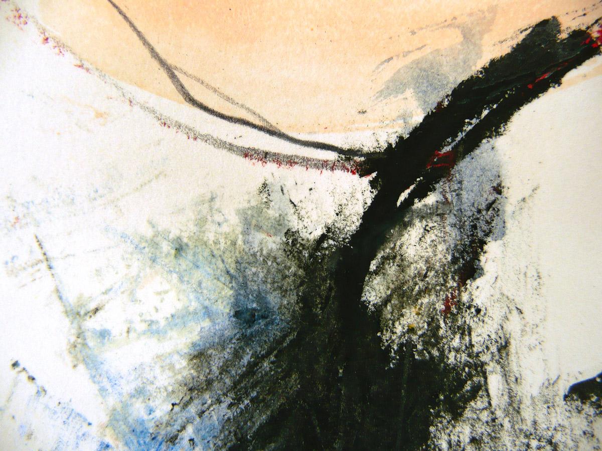 o.T. IX, 2010, Ölstick/Acryl auf Papier