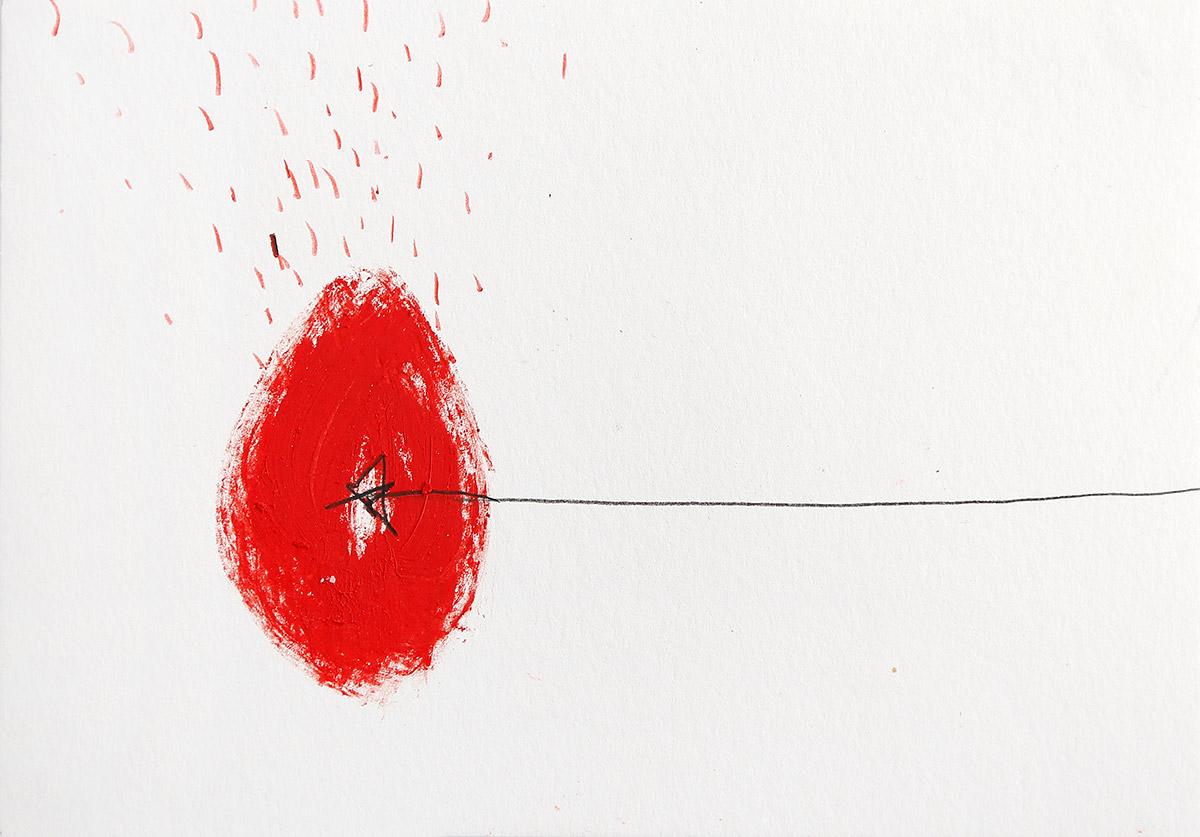 Aberrationen X, 2012-2014, Ölstick auf Papier, 21 x 14,8 cm