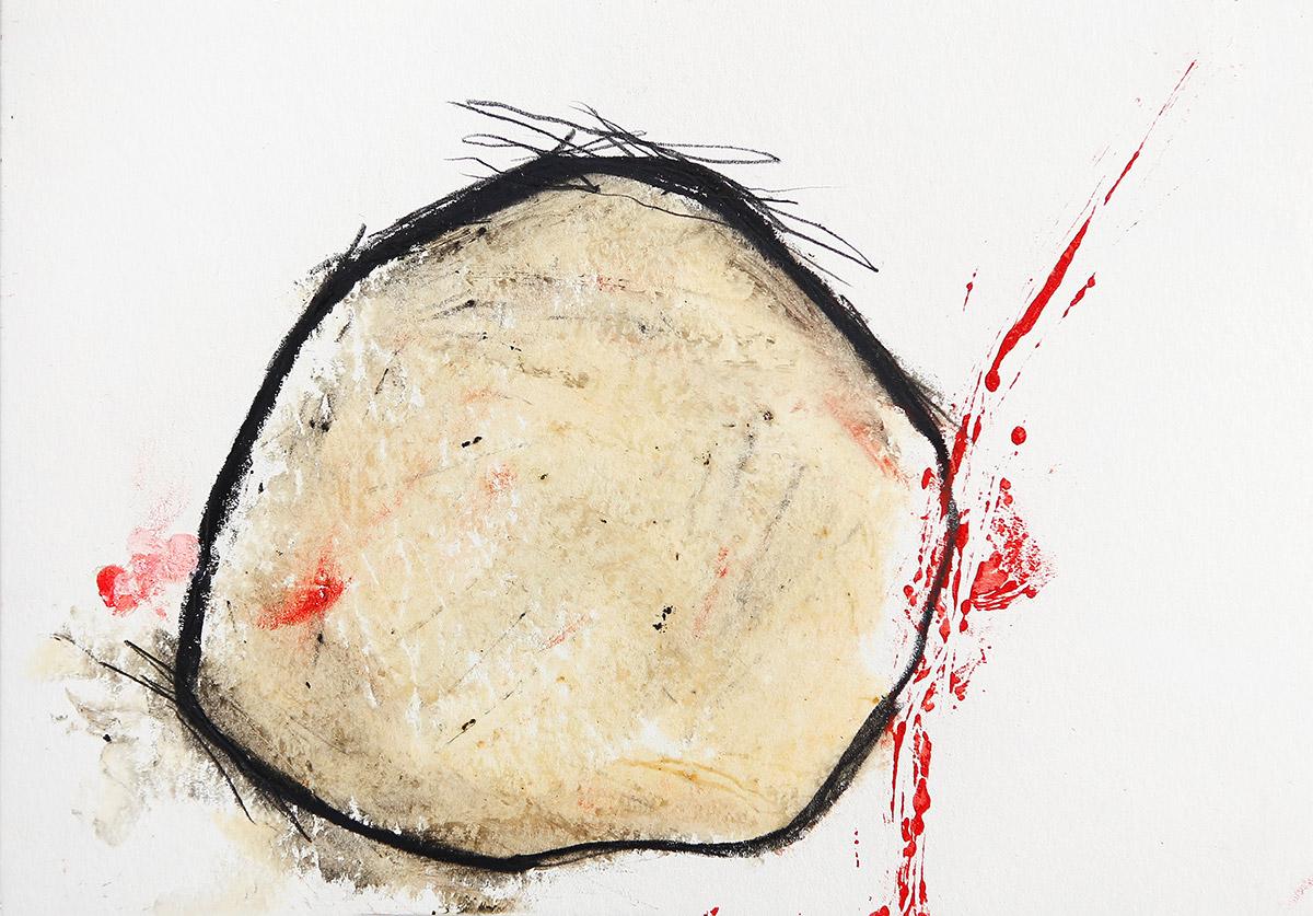 Aberrationen VII, 2012-2014, Ölstick auf Papier, 21 x 14,8 cm