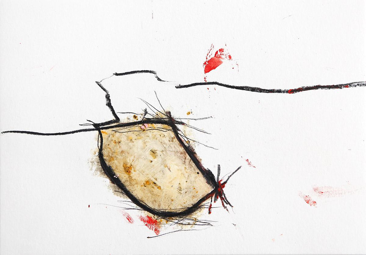 Aberrationen III, 2012-2014, Ölstick auf Papier, 21 x 14,8 cm
