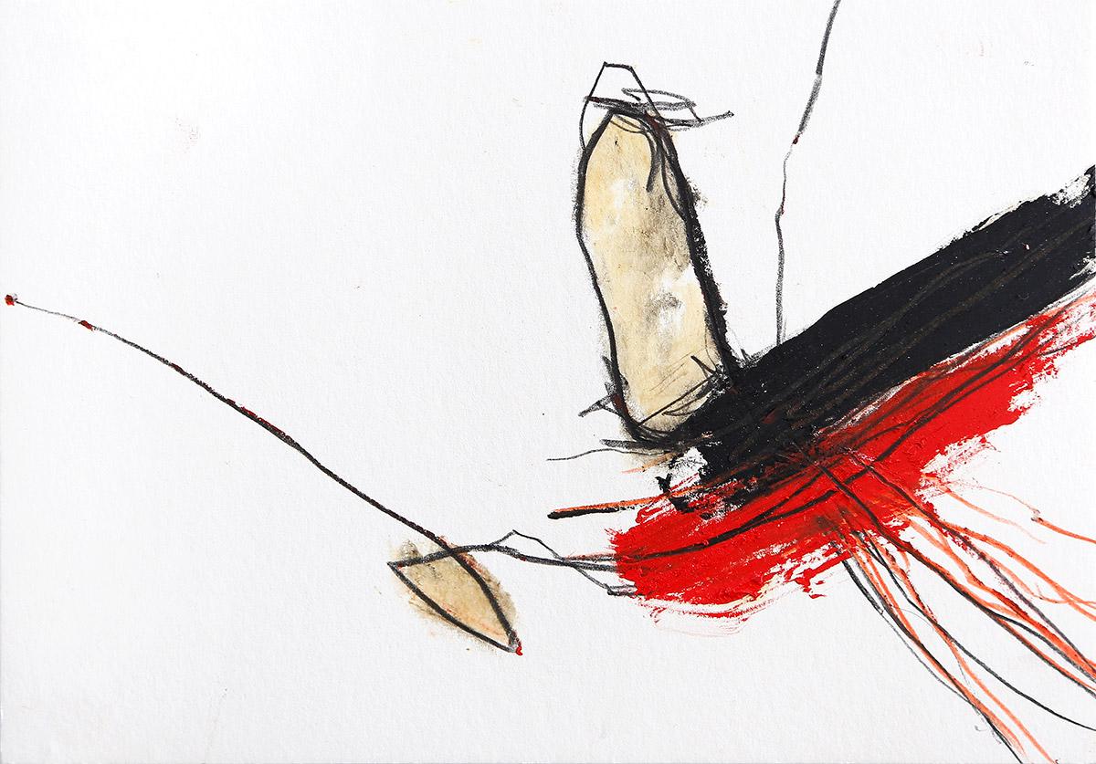 Aberrationen VI, 2012-2014, Ölstick auf Papier, 21 x 14,8 cm