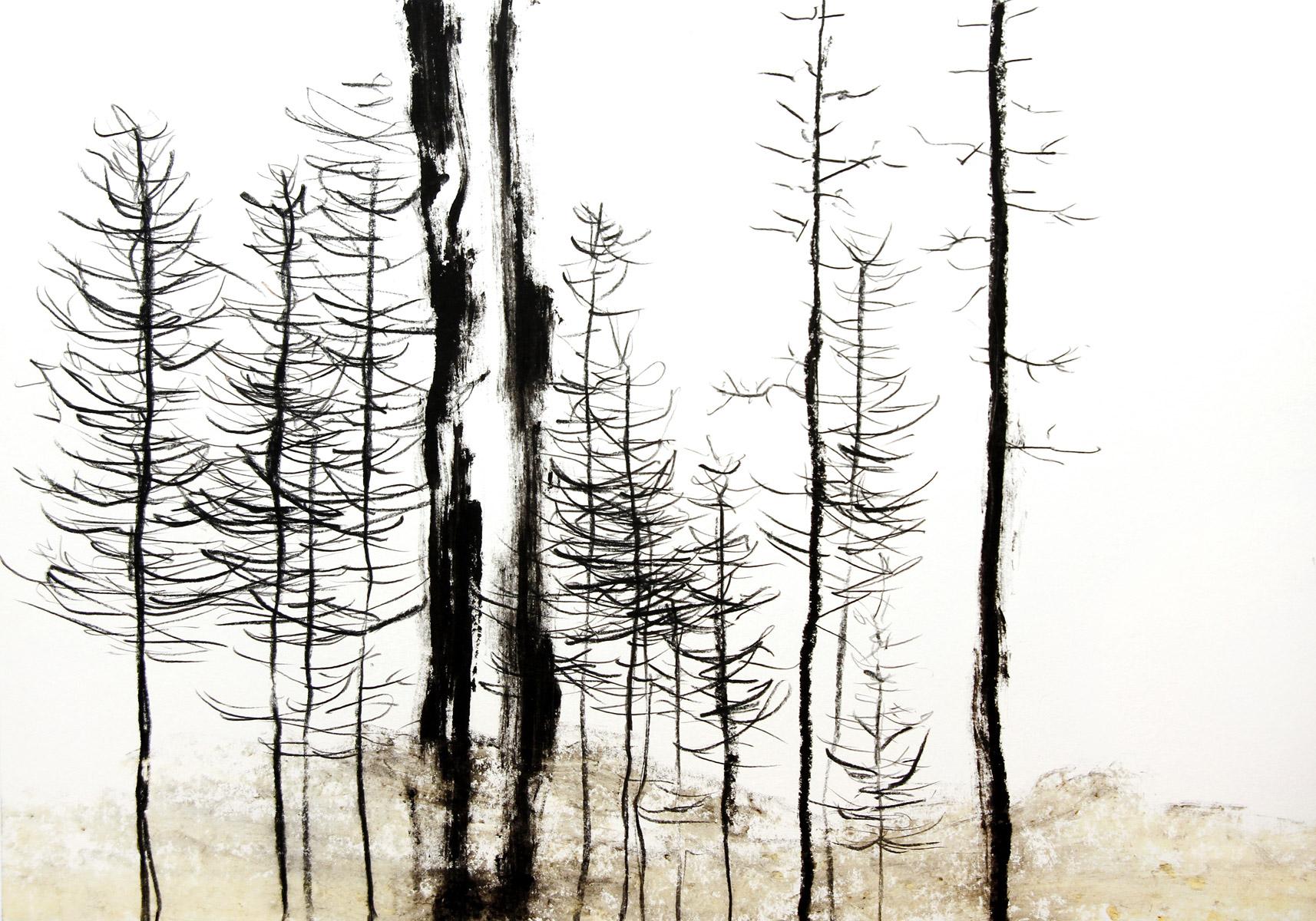 Grauer Wald, 2020, 59,4cm x 42cm